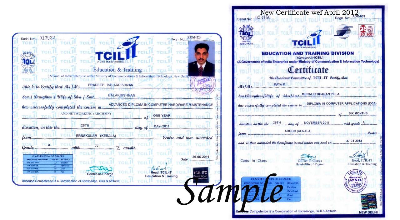 Cetificate TCIL-IT